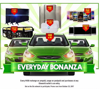 win Ledtv, 4GLTE phones, generators, microwave and hyundai accent