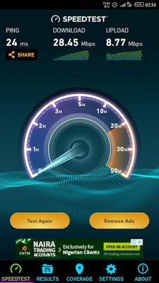 airtel 4G speed test
