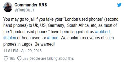 London used phones