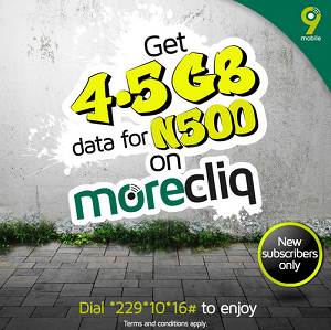 9mobile 4 5GB Data Offer For new Subscribers - See How You Can Get it