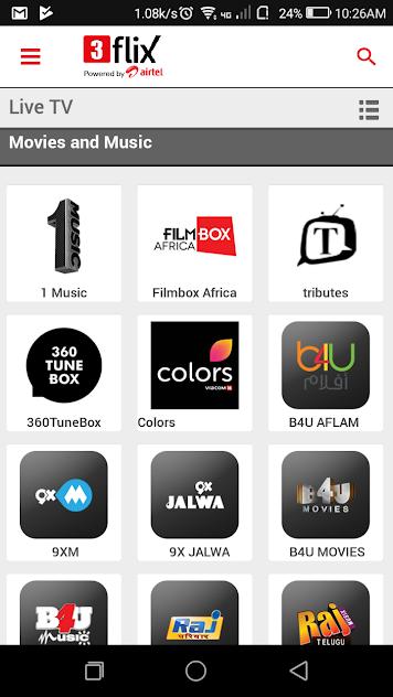 Airtel 3flix mobile