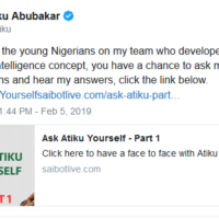 Ask Atiku Yourself