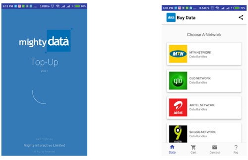 Mighty data top up