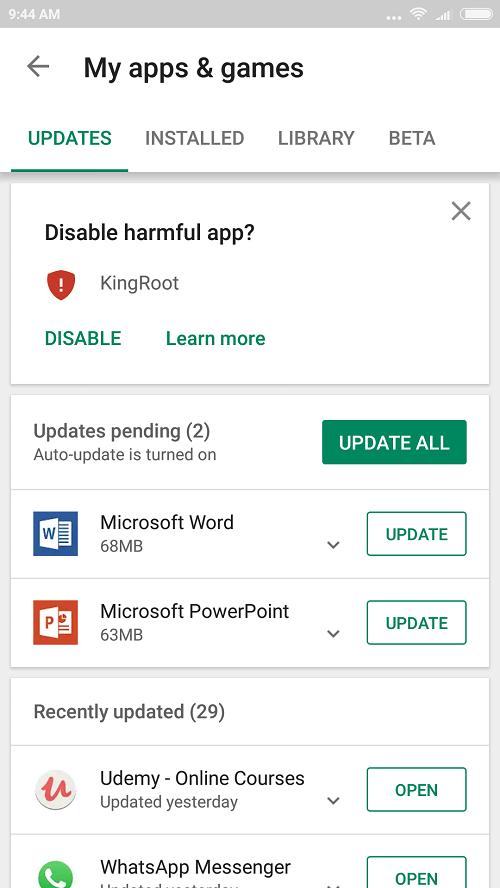 Apps not responding