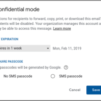 Google confidential mode