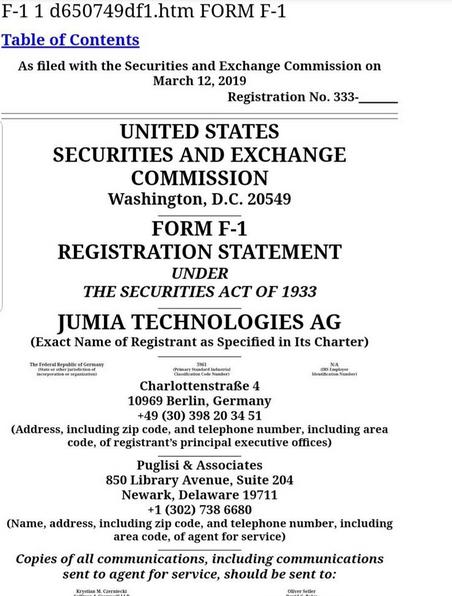 Jumia IPO Listing