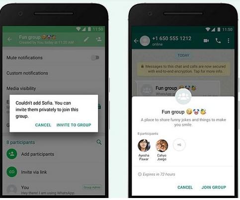 Whatsapp group control