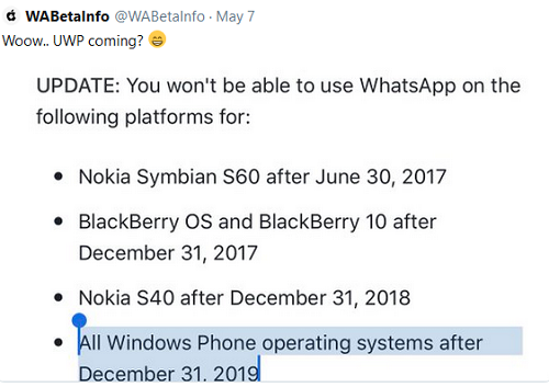 windows 10 whatsApp