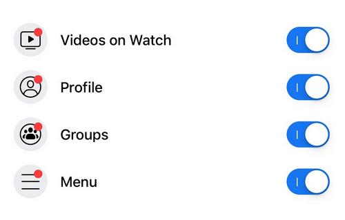 Facebook notification dot