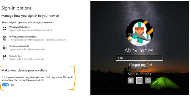 Microsoft passwordless