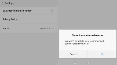disable ads from xiaomi phones
