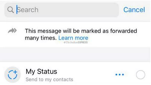 WhatsApp forwarded