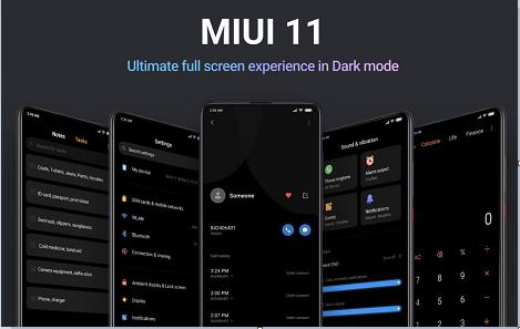 Xaiomi MIUI Dark mode