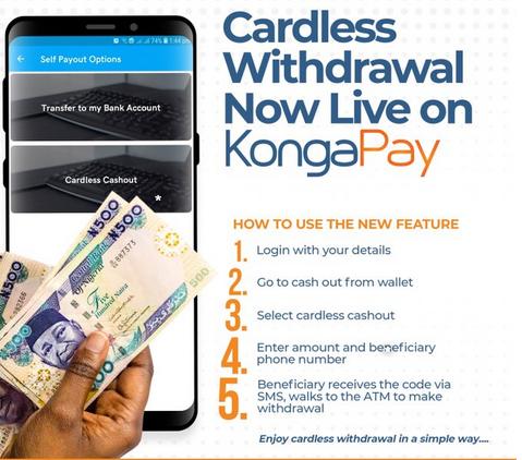 Konga cardless withdrawal