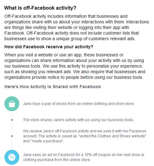 Facebook Activity off