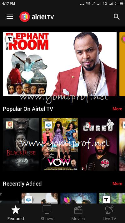 Airtel TV Movies
