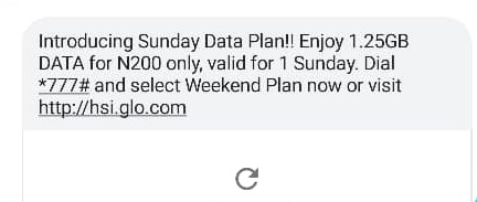 Glo Sunday data plan