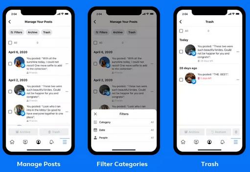 Facebook post mass delete