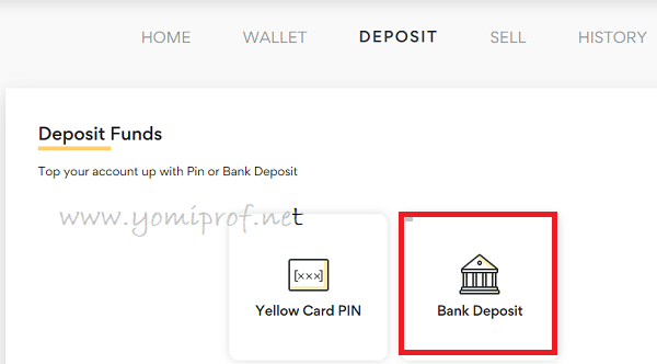 YellowCard Deposit