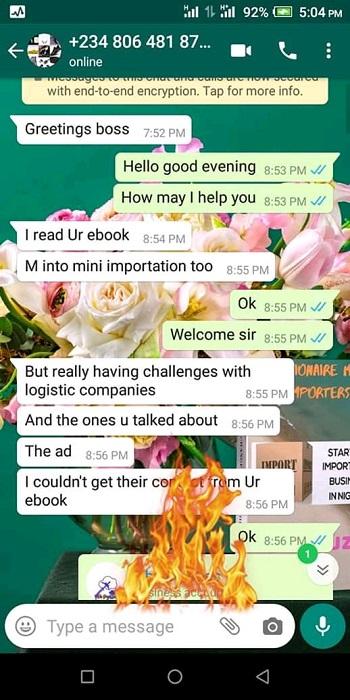 importation business testimonial