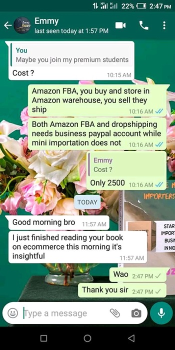 testimonials importation business