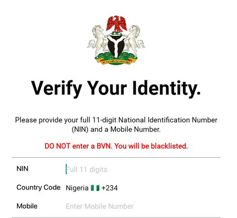 National Identidy number management