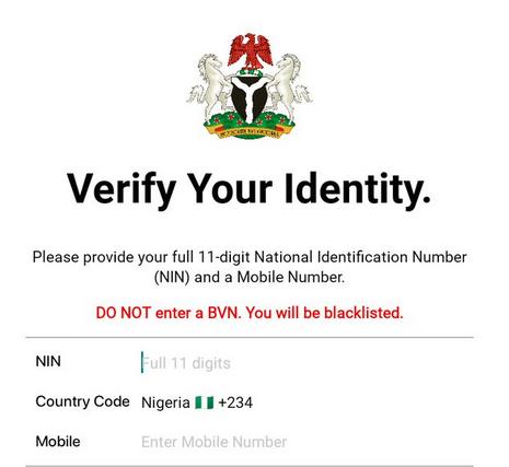 NIMC National ID card