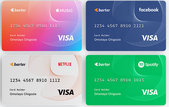 Barter Virtual dollar card