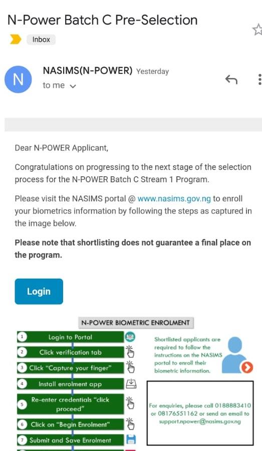 npower batch c