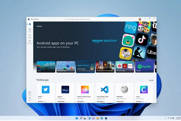 Windows eleven android apps
