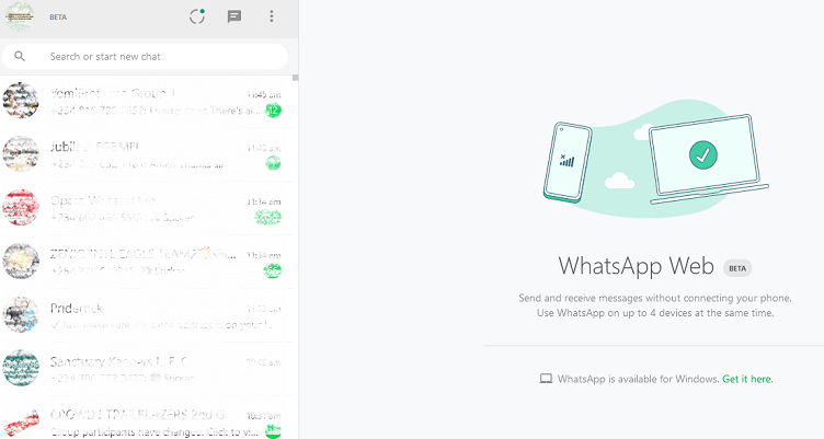 WhatsApp web multi device beta